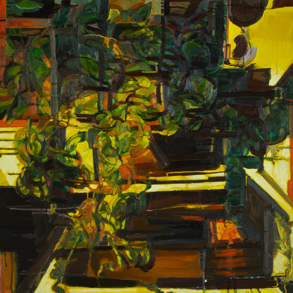 "Chocolate and Honey | Jeff Nye, 2005-2016 | oil on canvas | 36"" x 36"""