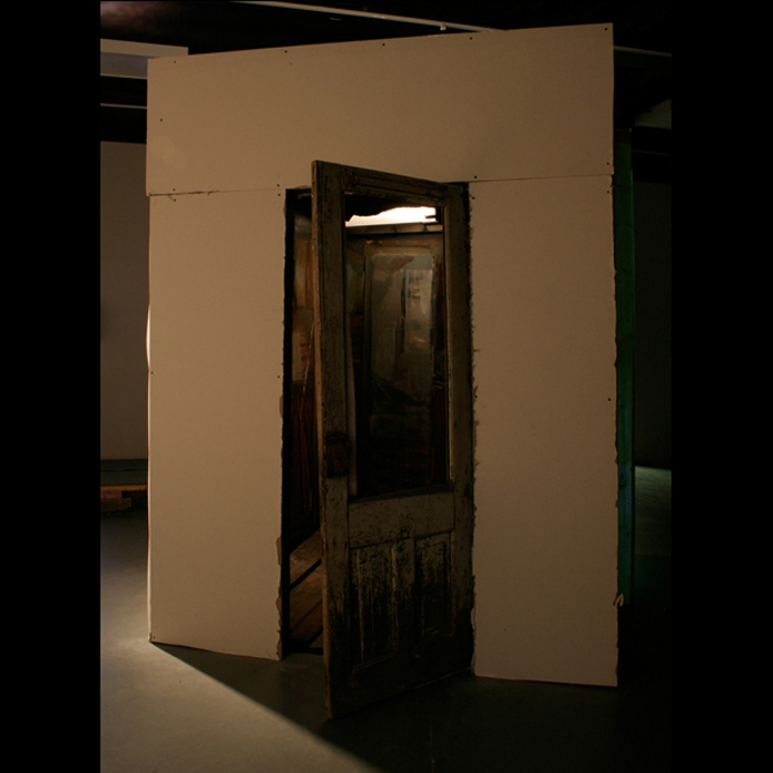 Hiding Place | Jeff Nye, 2005 | mixed media with oil paint, found objects and projected light