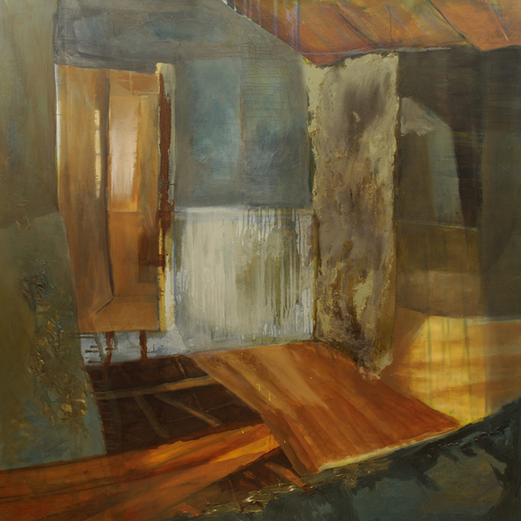 "Room 2 | Jeff Nye, 2006 | oil on canvas 72"" x 72"""