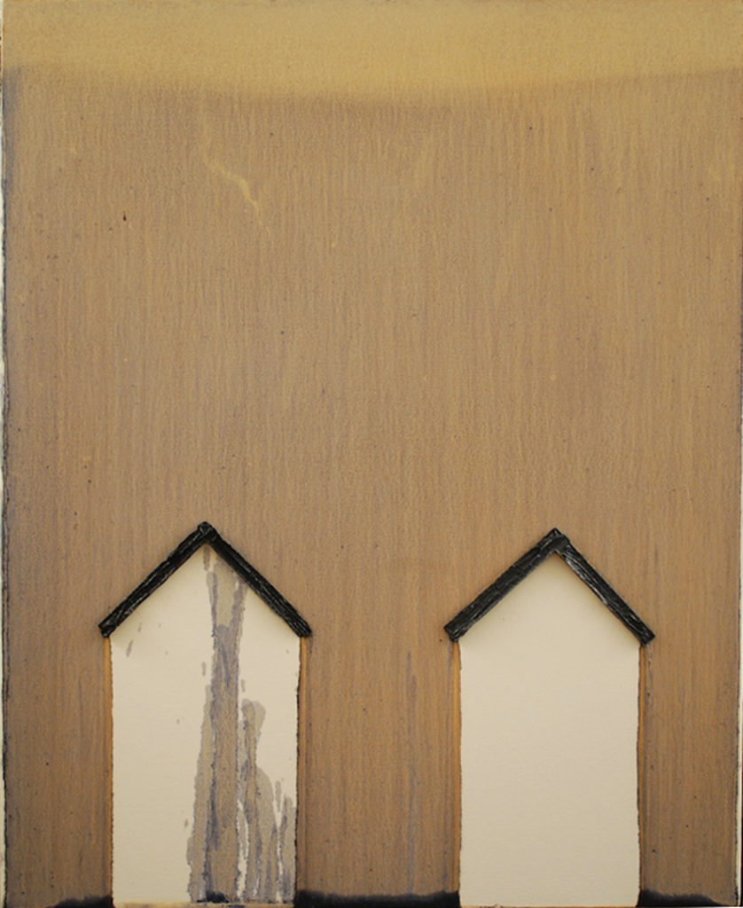 "Two Lonely Houses, Jeff Nye, 2010 | oil on canvas | 24"" x 32"""
