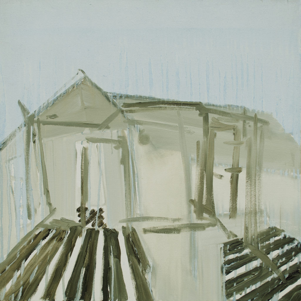 "House Laid Bare | Jeff Nye, 2007 | oil on canvas | 30"" x 30"""